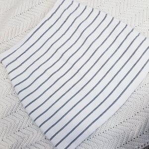 HM Stripe White Mini Skirt